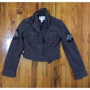 Urban outfitters wool military coat jacket s free
